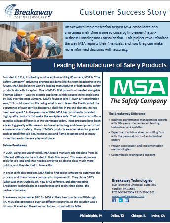 MSA Case Study