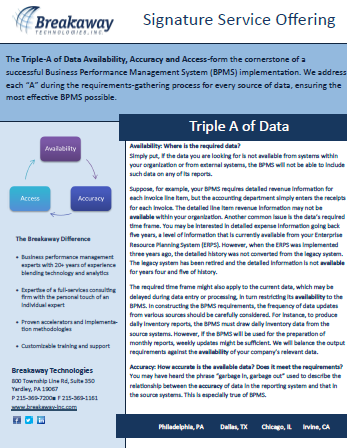 Triple A of Data
