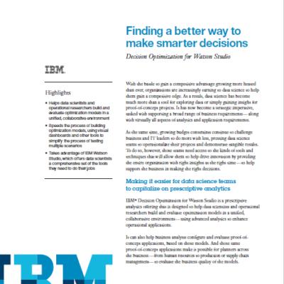 IBM Decision Optimization